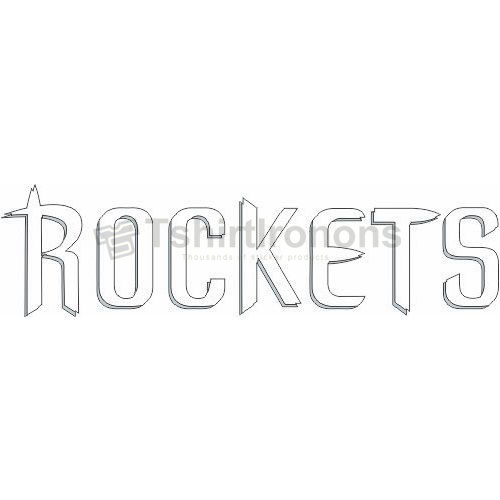 Houston Rockets T-shirts Iron On Transfers N1026
