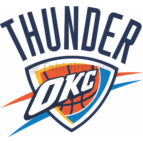 Oklahoma City Thunder T-shirts Iron On Transfers N1127