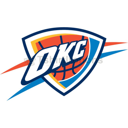 Oklahoma City Thunder T-shirts Iron On Transfers N1130