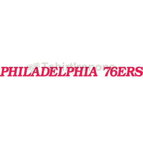 Philadelphia 76ers T-shirts Iron On Transfers N1148
