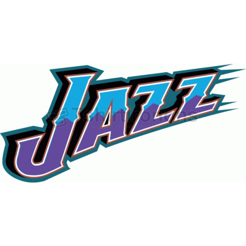 Utah Jazz T-shirts Iron On Transfers N1216