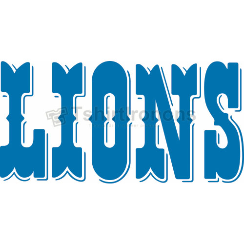 Detroit Lions T-shirts Iron On Transfers N515