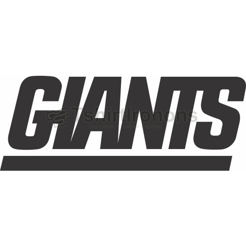 New York Giants T-shirts Iron On Transfers N630