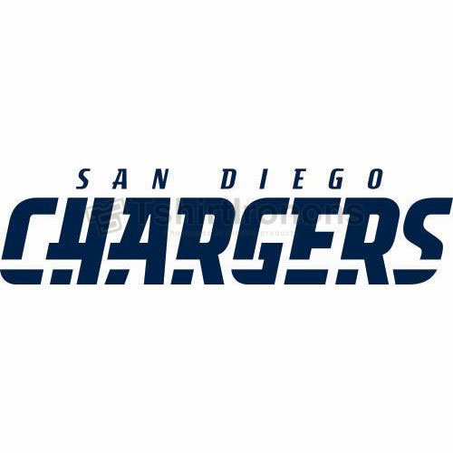 San Diego Chargers T-shirts Iron On Transfers N721