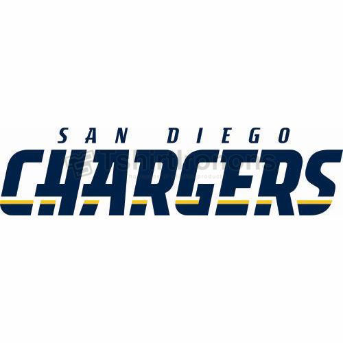 San Diego Chargers T-shirts Iron On Transfers N722