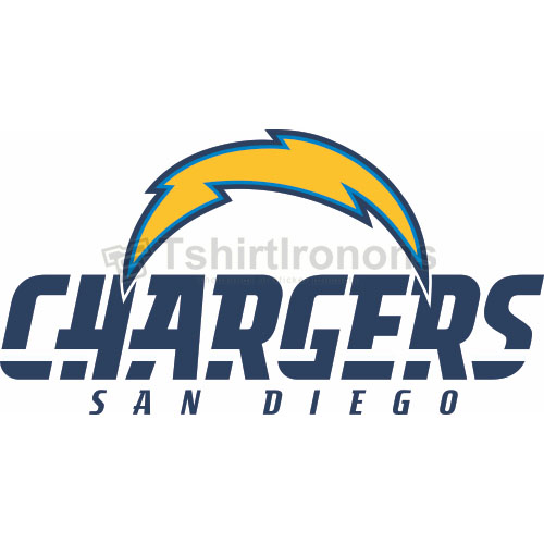 San Diego Chargers T-shirts Iron On Transfers N726