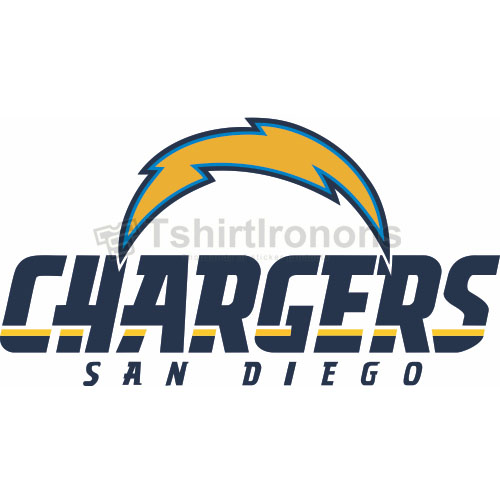 San Diego Chargers T-shirts Iron On Transfers N727