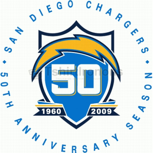 San Diego Chargers T-shirts Iron On Transfers N734