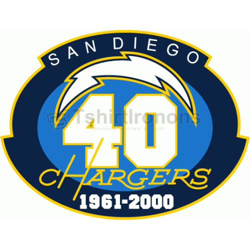 San Diego Chargers T-shirts Iron On Transfers N735