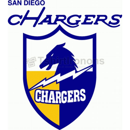 San Diego Chargers T-shirts Iron On Transfers N738