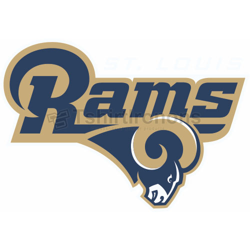 St. Louis Rams T-shirts Iron On Transfers N763