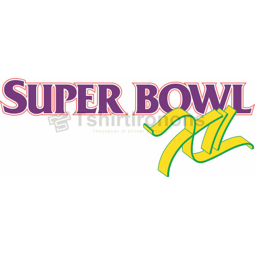 Super Bowl T-shirts Iron On Transfers N809