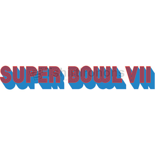 Super Bowl T-shirts Iron On Transfers N814