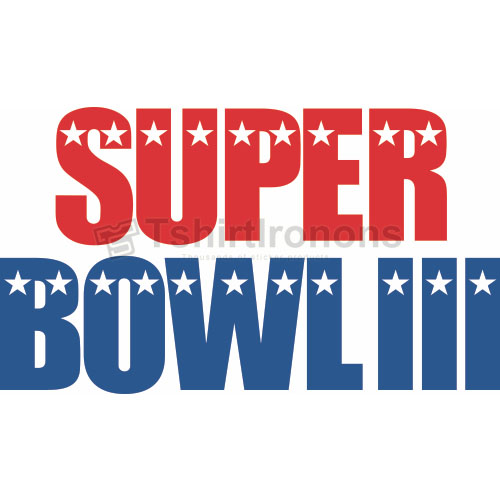 Super Bowl T-shirts Iron On Transfers N818