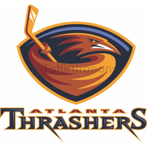 Atlanta Thrashers T-shirts Iron On Transfers N65