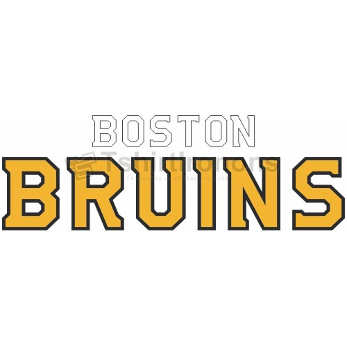 Boston Bruins T-shirts Iron On Transfers N68