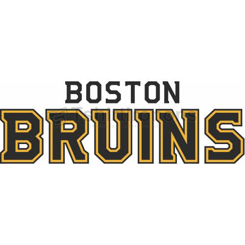 Boston Bruins T-shirts Iron On Transfers N69