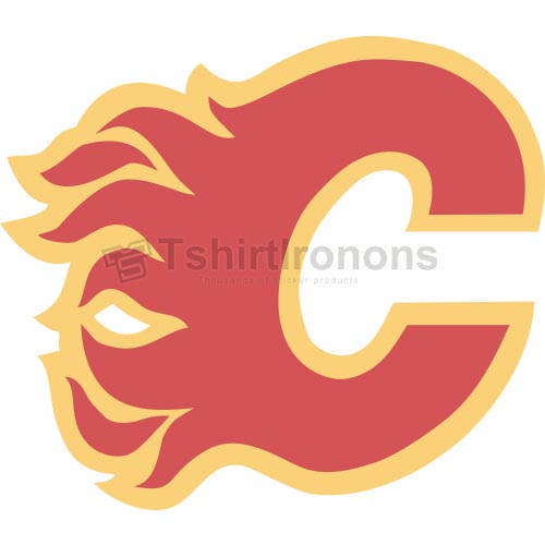 Calgary Flames T-shirts Iron On Transfers N98