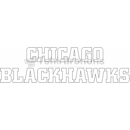 Chicago Blackhawks T-shirts Iron On Transfers N115