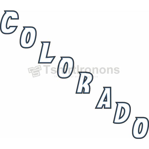 Colorado Avalanche T-shirts Iron On Transfers N119