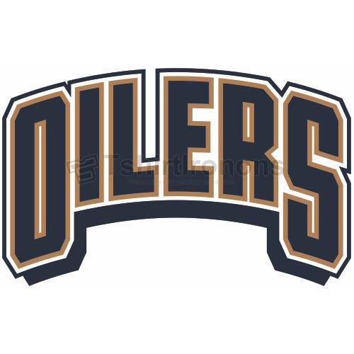 Edmonton Oilers T-shirts Iron On Transfers N147