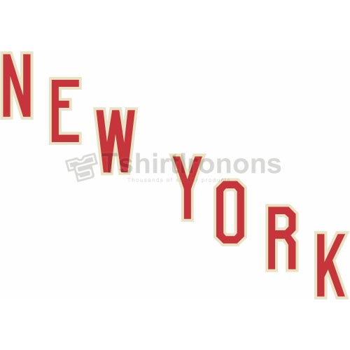 New York Rangers T-shirts Iron On Transfers N238