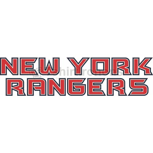 New York Rangers T-shirts Iron On Transfers N239