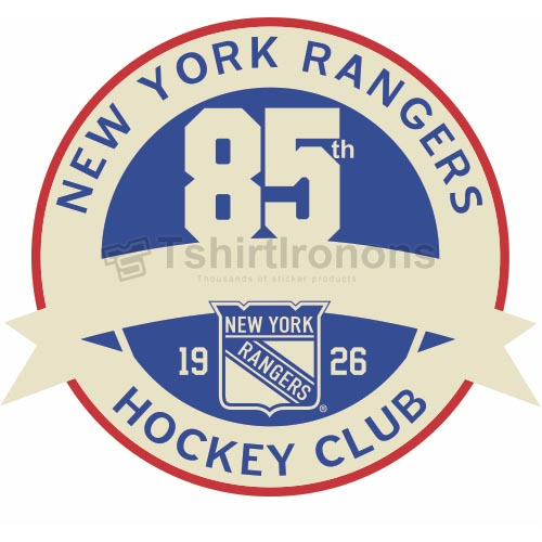 New York Rangers T-shirts Iron On Transfers N244