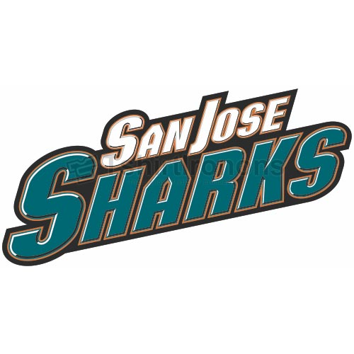 San Jose Sharks T-shirts Iron On Transfers N308