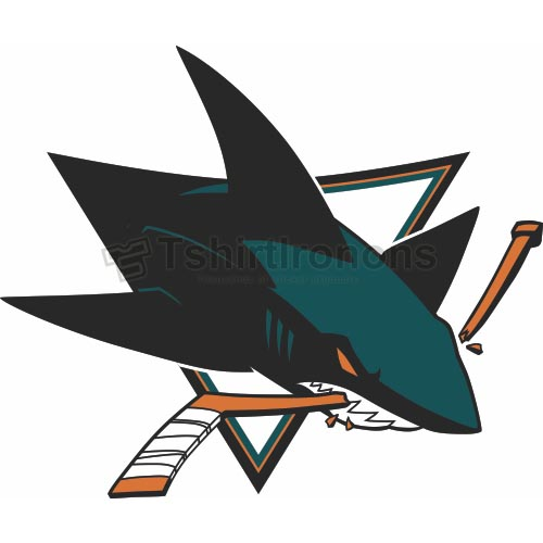 San Jose Sharks T-shirts Iron On Transfers N309