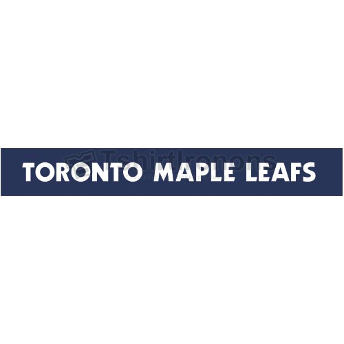 Toronto Maple Leafs T-shirts Iron On Transfers N344