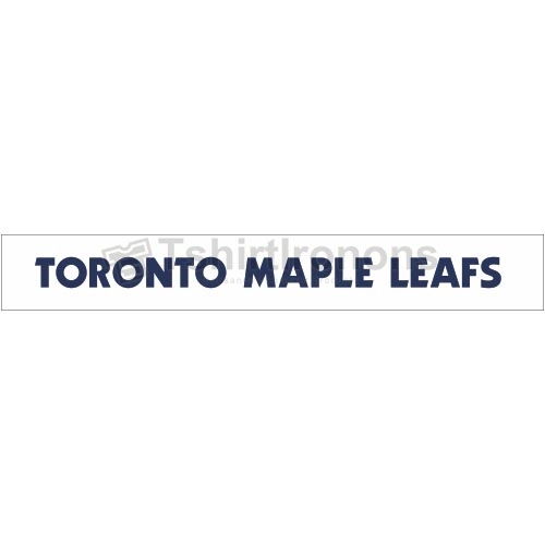 Toronto Maple Leafs T-shirts Iron On Transfers N345