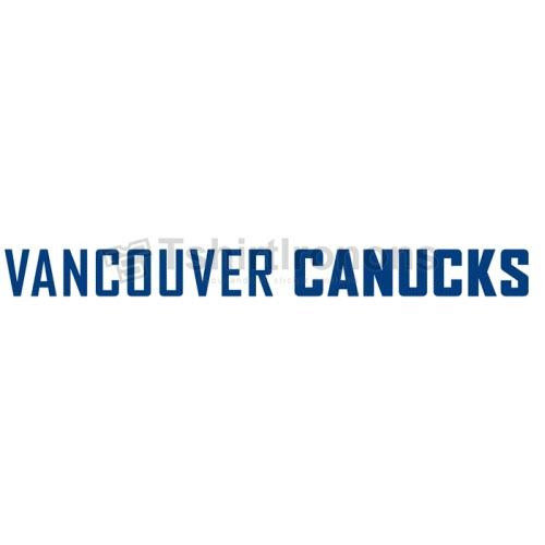 Vancouver Canucks T-shirts Iron On Transfers N362