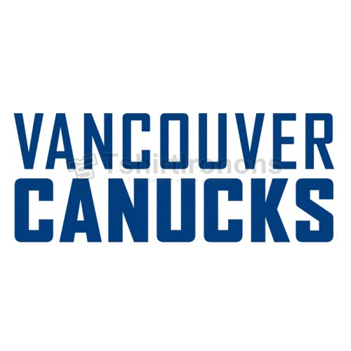 Vancouver Canucks T-shirts Iron On Transfers N363