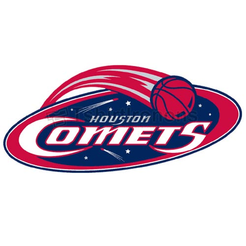 Houston Comets T-shirts Iron On Transfers N5675