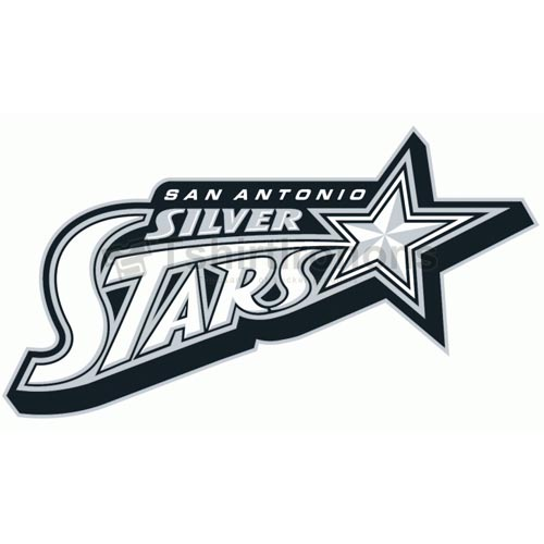 San Antonio Silver Stars T-shirts Iron On Transfers N5697