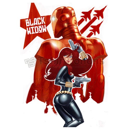 Black Widow T-shirts Iron On Transfers N6448
