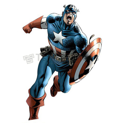 Captain America T-shirts Iron On Transfers N4465