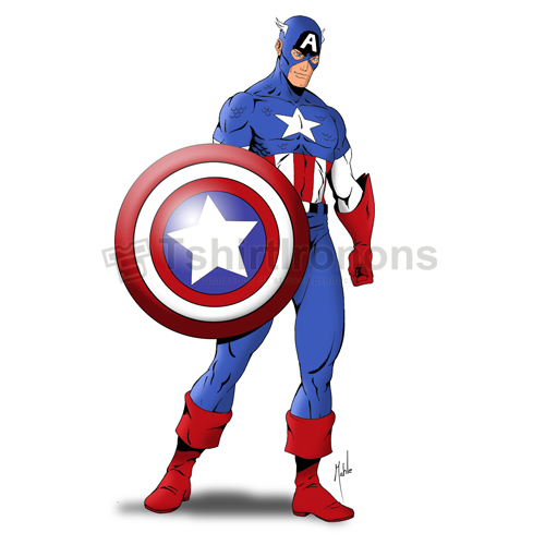 Captain America T-shirts Iron On Transfers N4470