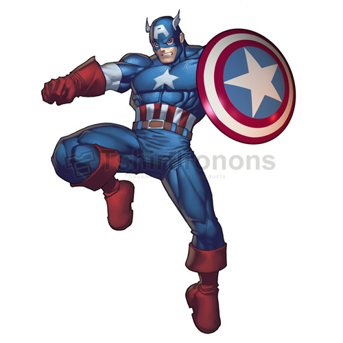 Captain America T-shirts Iron On Transfers N4471