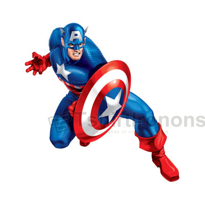 Captain America T-shirts Iron On Transfers N4472