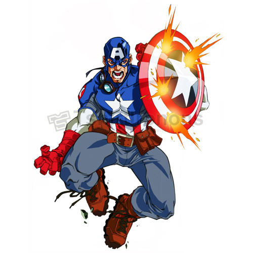 Captain America T-shirts Iron On Transfers N4477