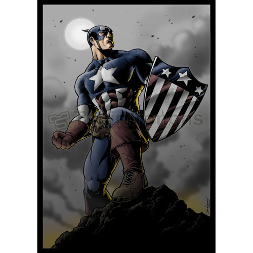 Captain America T-shirts Iron On Transfers N4478
