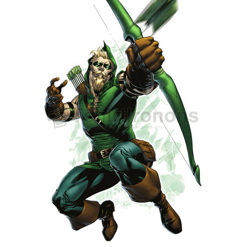 Green Arrow T-shirts Iron On Transfers N4976