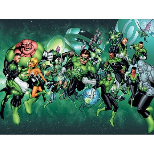 Green Lantern T-shirts Iron On Transfers N4507