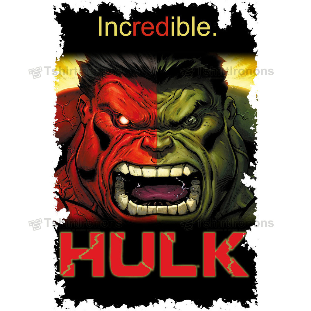 Hulk T-shirts Iron On Transfers N4552