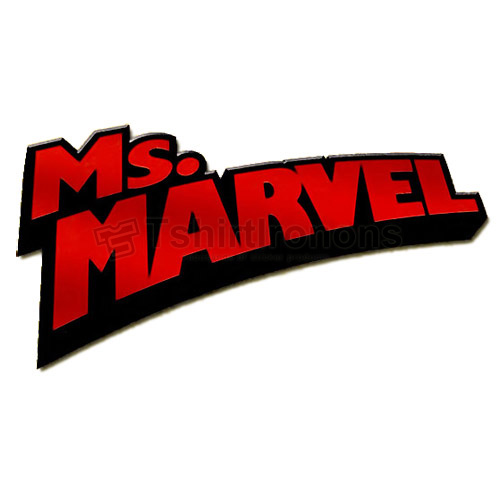 Ms.Marvel T-shirts Iron On Transfers N6492