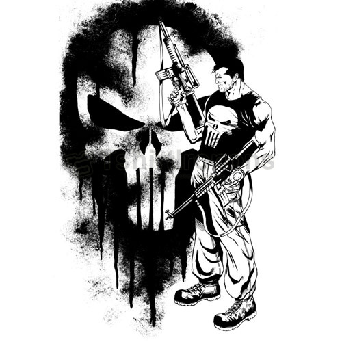 Punisher T-shirts Iron On Transfers N5077