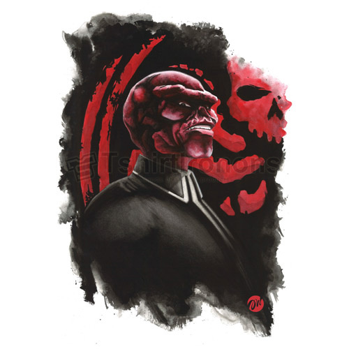 Red Skull T-shirts Iron On Transfers N7699