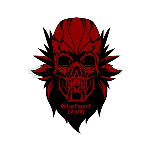 Red Skull T-shirts Iron On Transfers N7705
